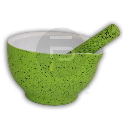 Porcelán mozsár 12cm zöld PH-10020