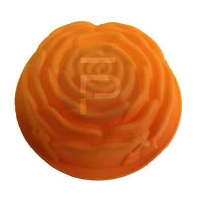 Szilikon sütőforma rózsa narancs PH-12841