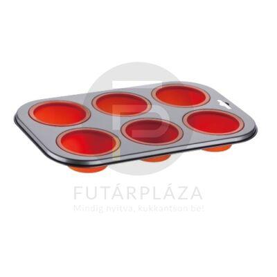 Szilikon muffin tepsi piros PH-12851