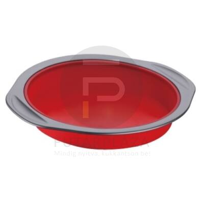 Szilikon sütőforma kerek piros PH-12852