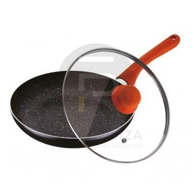 Fedős serpenyő 28 cm narancs PH-15441-28