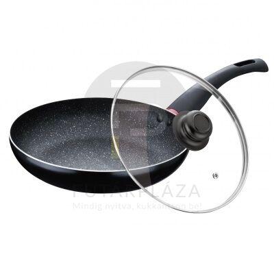 Fedős serpenyő 28 cm fekete PH-15454-28
