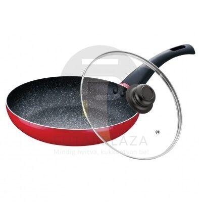 Fedős serpenyő 22 cm piros PH-15454-22