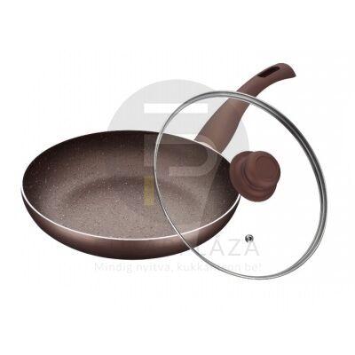 Fedős serpenyő 28 cm bronz PH-15459-28