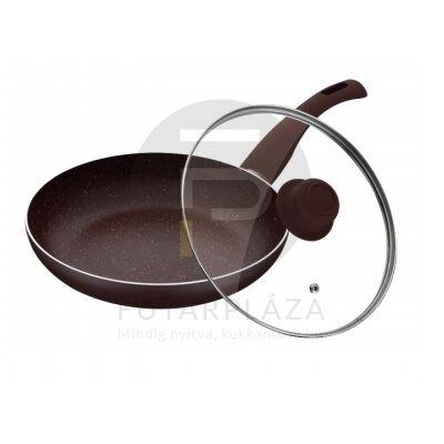 Fedős serpenyő 28 cm sötétbarna PH-15459-28