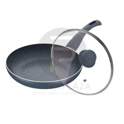 Fedős serpenyő 28 cm szürke PH-15459-28