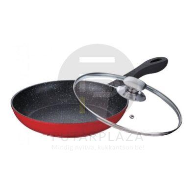 Fedős serpenyő 24cm piros PH-15481-24
