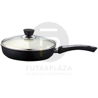 Fedős serpenyő 22cm fekete PH-15393-22
