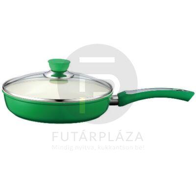 Fedős serpenyő 28cm zöld PH-15393-28