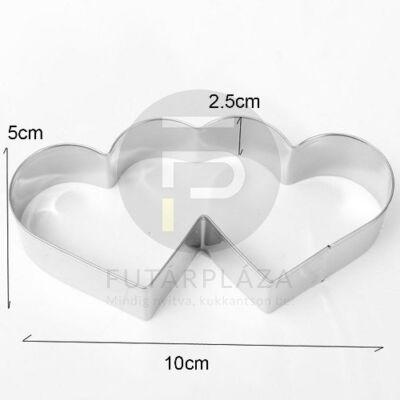 Kiszúró forma - dupla szív
