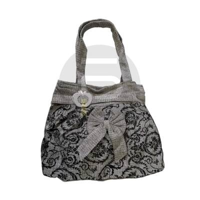 Shopper táska masnis - szürke