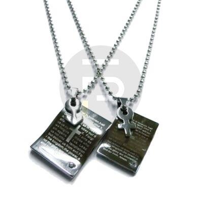 Tábla medál nyaklánccal - páros ékszer