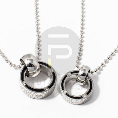 Páros nyaklánc - gyűrű medál kövekkel