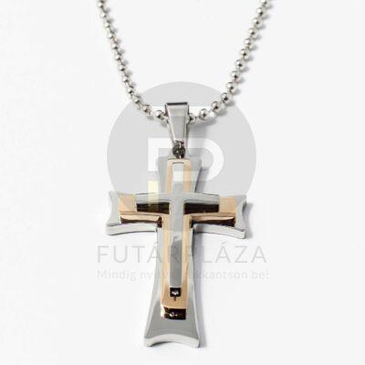Három keresztes medál nyaklánccal