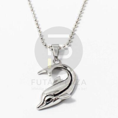 Acél delfin medál nyakláncon