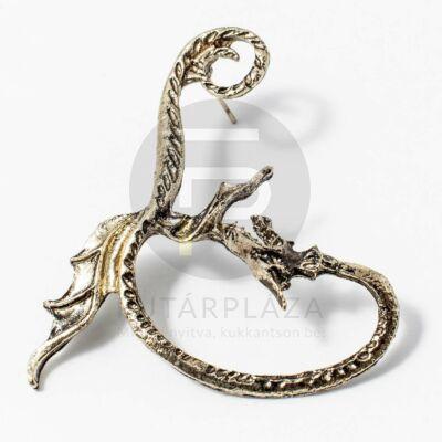 Fülcimpa fülbevaló sárkány antikolt arany bevonatos
