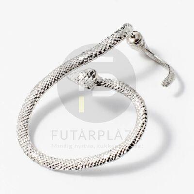 Fülcimpa fülbevaló kígyó alakú ezüst bevonatos