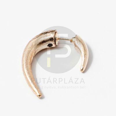 Arany bevonatos szarv fülbevaló
