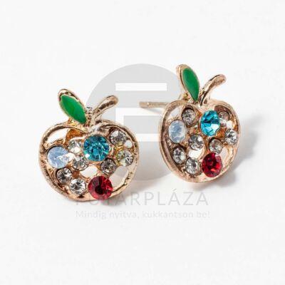 Arany bevonatos alma fülbevaló kövekkel
