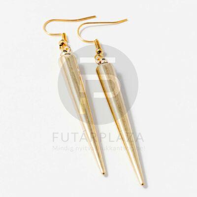 Tüske alakú fülbevaló arany, ezüst