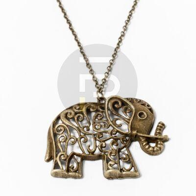 Antikolt nyaklánc elefánt medállal