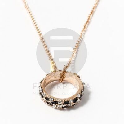 Arany bevonatos nyaklánc köves gyűrű medállal