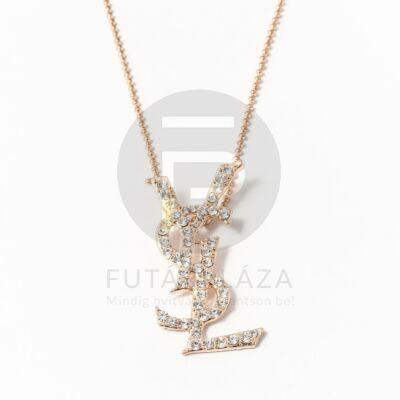 Arany bevonatos nyaklánc kövekkel kirakott YSL medállal