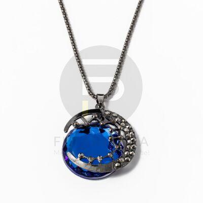 Kör medálos nyaklánc - kék