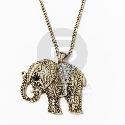 Nyaklánc színjátszóköves elefánt medállal