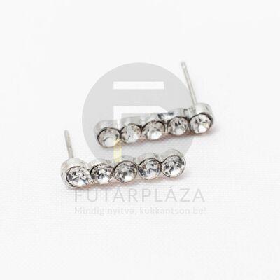 Ezüst bevonatos 5 kristályos fülbevaló