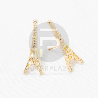Arany bevonatos Eiffel-torony fülbevaló