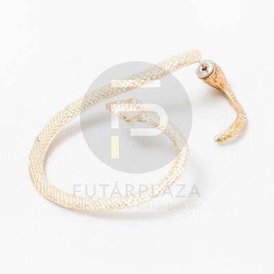 Fülcimpa fülbevaló kígyó alakú arany bevonatos