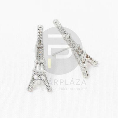 Ezüst bevonatos Eiffel-torony fülbevaló