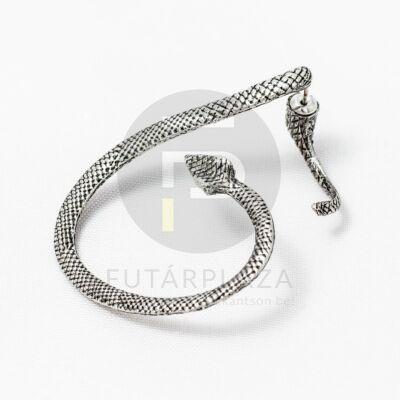 Fülcimpa fülbevaló kígyó alakú antik ezüst bevonatos