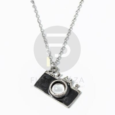Fényképezőgép medálos nyaklánc fekete