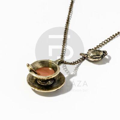 Antikolt kávéscsésze medálos nyaklánc