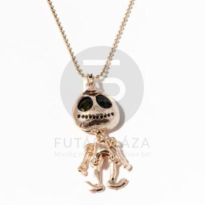 Csontváz figurás nyaklánc - arany bevonatos