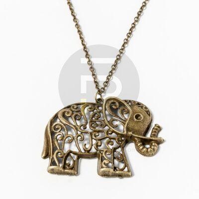 Antikolt elefánt medálos nyaklánc