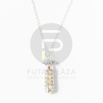Cukorborsó medálos nyaklánc - ezüst bevonatos