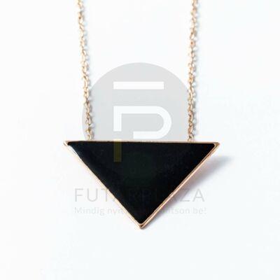 Arany bevonatos háromszög medálos nyaklánc fekete