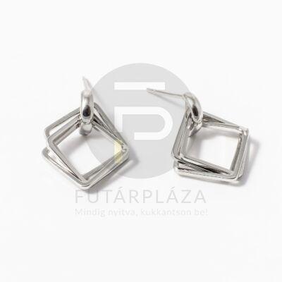 Ezüst bevonatos tripla négyszög beszúrós fülbevaló