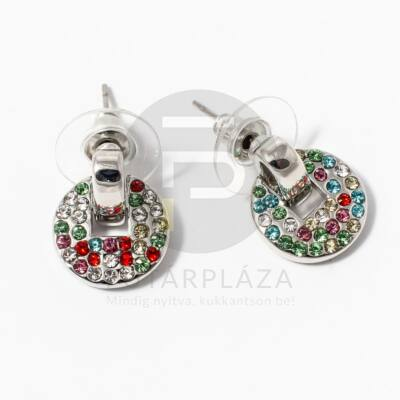 Ezüst bevonatos multicolor fülbevaló