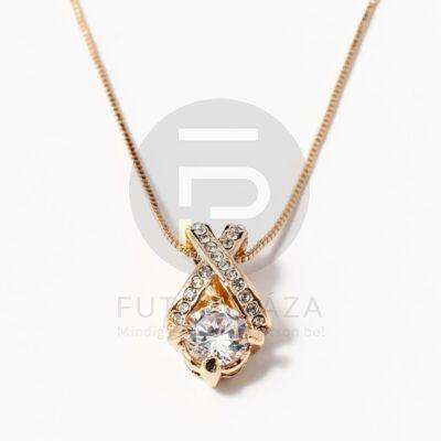 Arany bevonatos X medálos nyaklánc