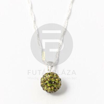 Shamballa medál nyakláncon olíva