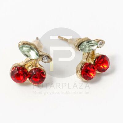 Arany bevonatos cseresznye fülbevaló