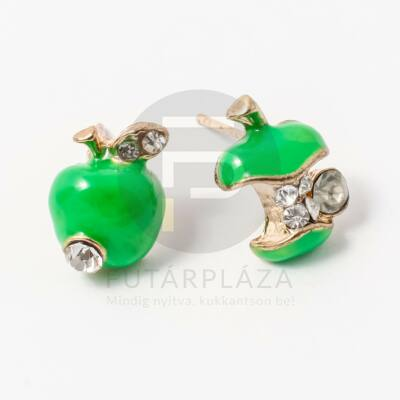 Beszúrós alma fülbevaló zöld
