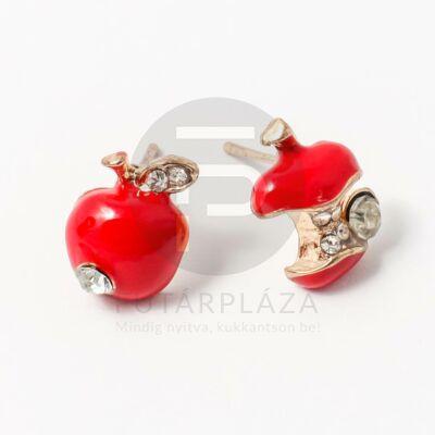 Beszúrós alma fülbevaló piros