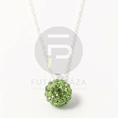 Shamballa medál nyakláncon zöld