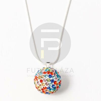Óriás shamballa nyaklánc multicolor