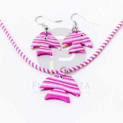 Gyerek ékszer szett halacskás - pink